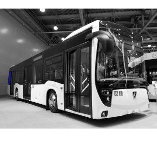 Стекло салона на автобус НефАЗ-5299-40-52 1220х1070 серое