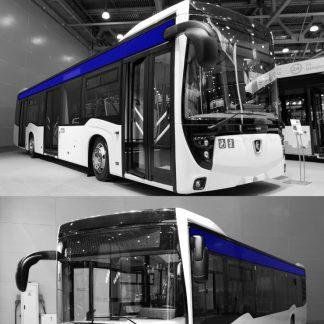 Стекло салона на автобус НефАЗ-5299-40-52 верхнее боковое серое