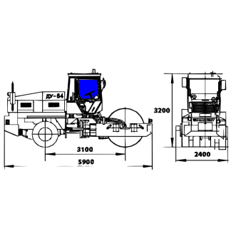 Стекло боковое на каток ДУ-84
