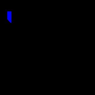 Стекло салона глухое 445х1080 на Вектор NEXT белое